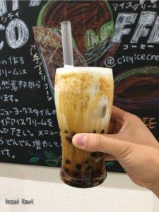 白井市CITY ICECREM&COFFEE(シティアイスクリーム&コーヒー)タピオカ・濃厚ミルクティー